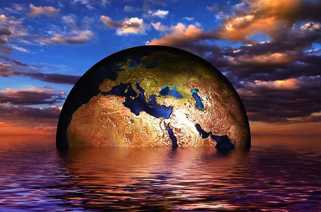 Erde in Wasser