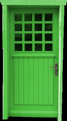 Grüne Türe